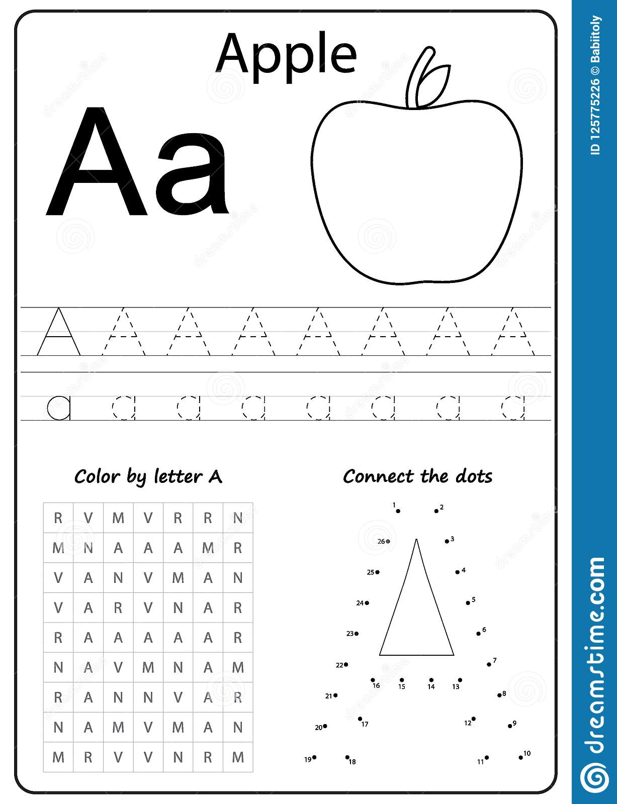 Art Preschool Alphabet Worksheet