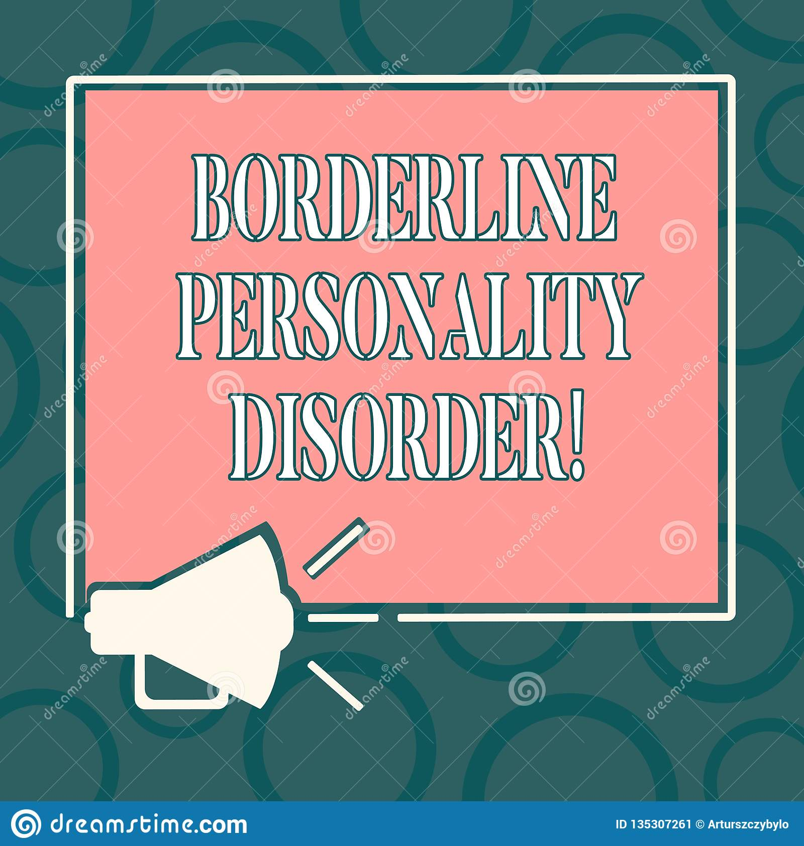 Writing Note Showing Borderline Personality Disorder