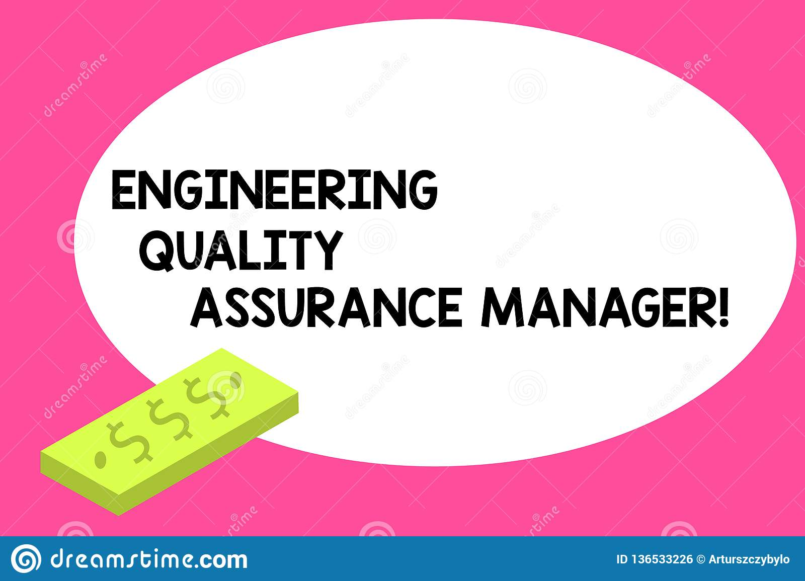 Writing Note Showing Engineering Quality Assurance Manager