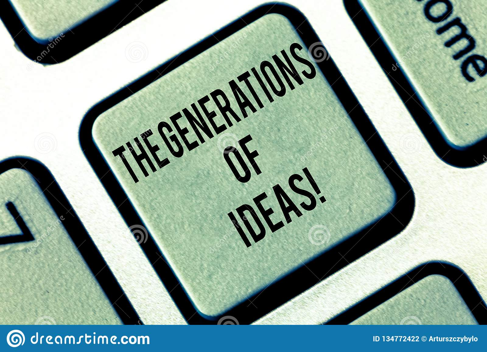 Writing Note Showing The Generations Of Ideas Business