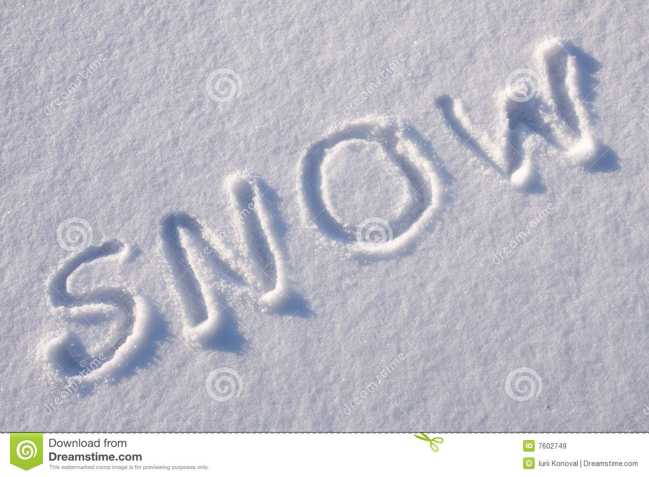 Writing Text On The Snow Royalty Free Stock Images Image