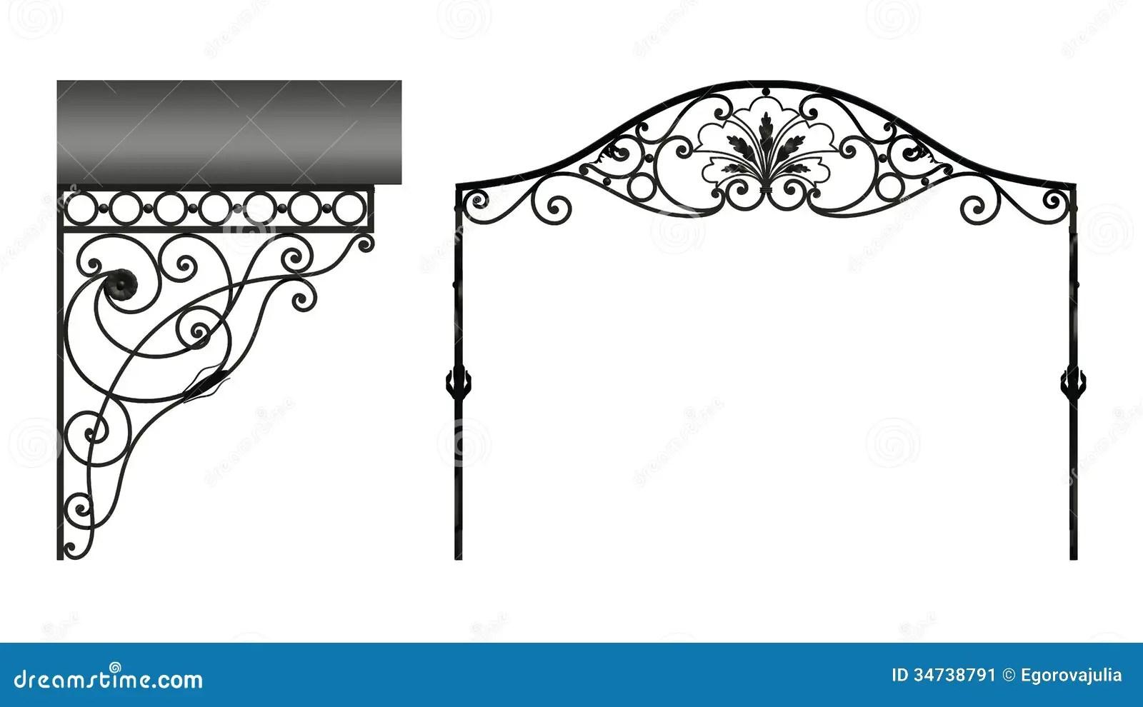 Wrought Iron Canopy Stock Image