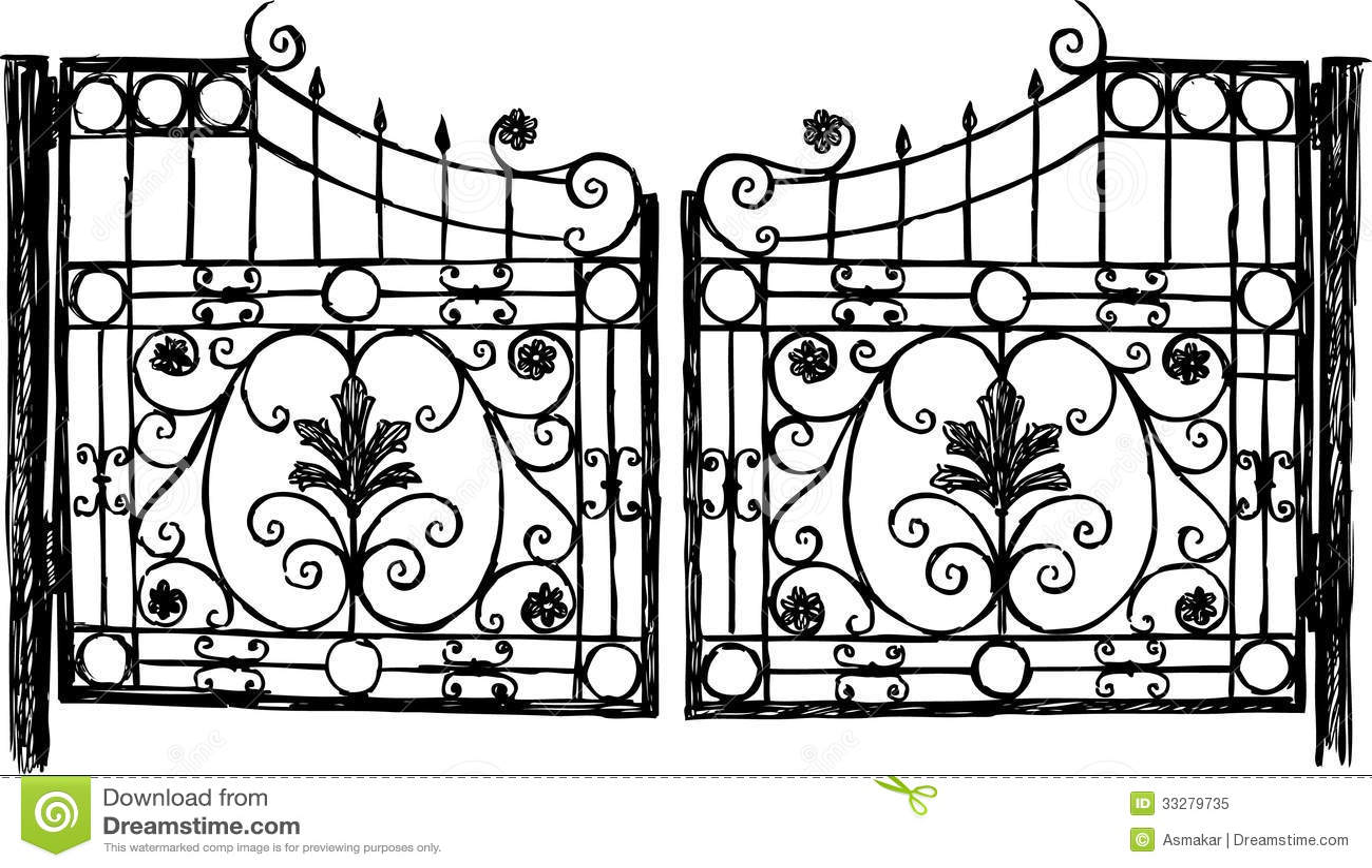 Wrought Iron Gate Royalty Free Stock Photo