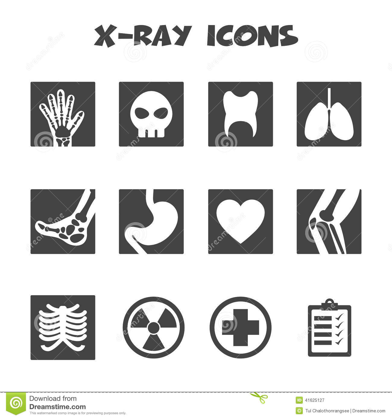 X Ray Icons Stock Vector Illustration Of Knee