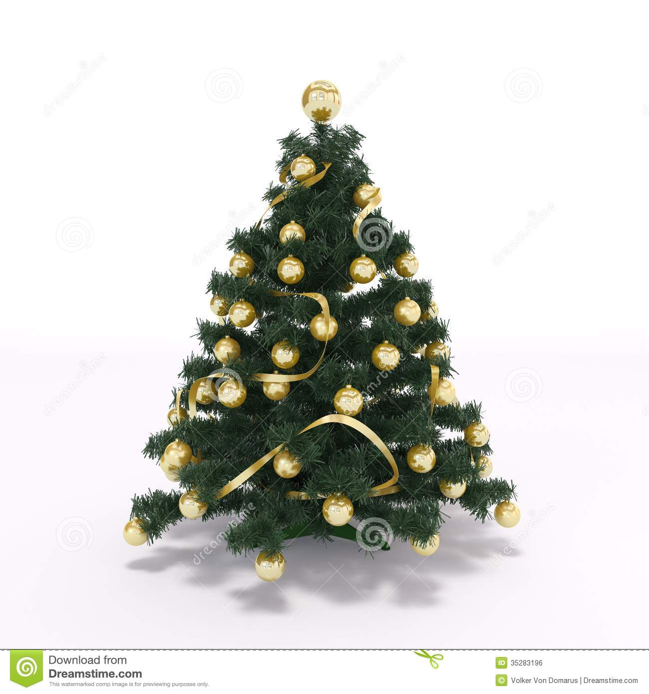 Xmas Tree Royalty Free Stock Image Image 35283196