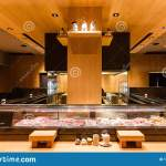 Yakitori Japanese Grilled Skewer Restaurant With Counter Bar Around The Grill Kitchen Area Mostly Decorated With Oak Wood Texture Editorial Image Image Of Grilled Celebration 159856670