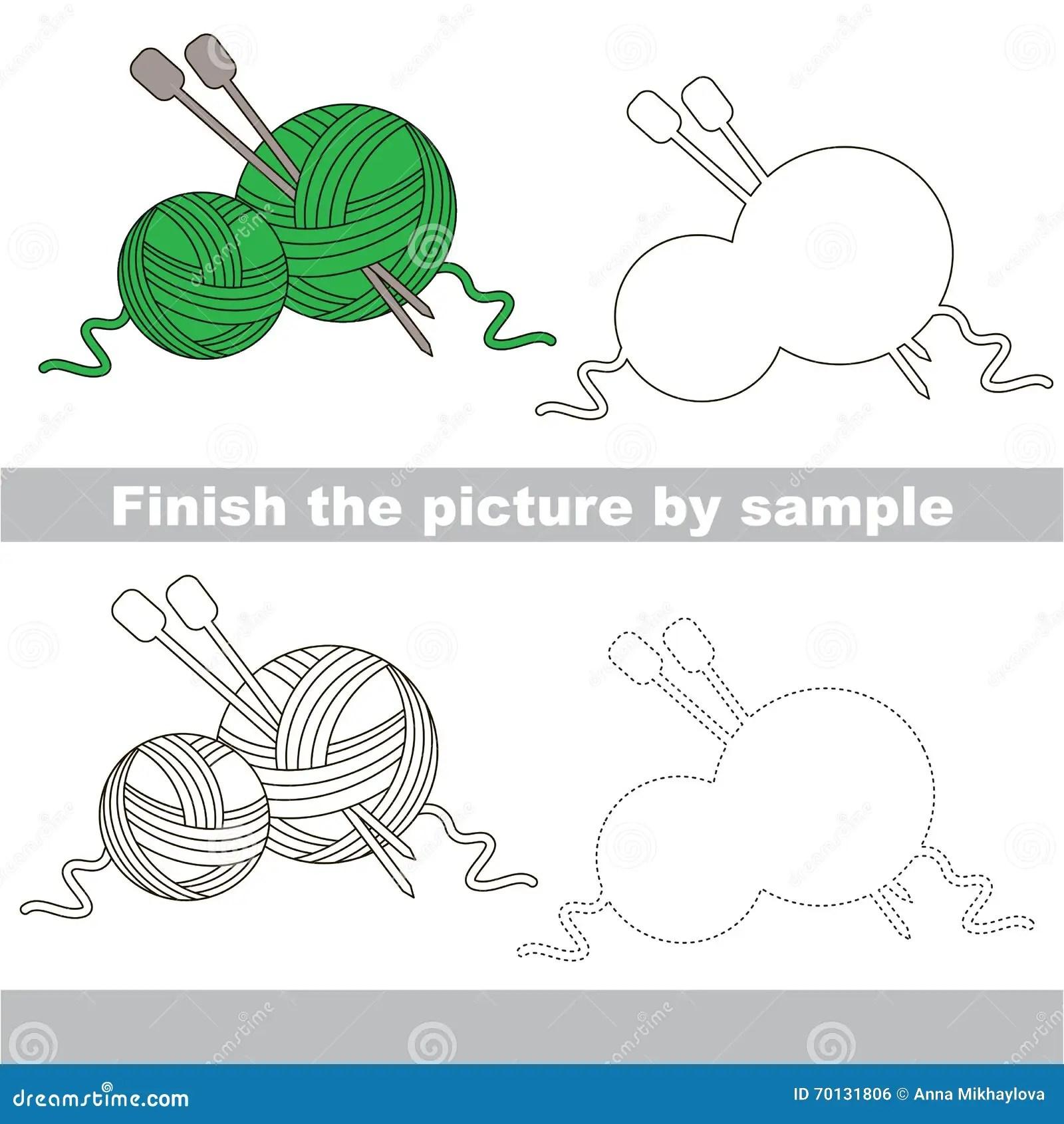 Yarn Drawing Worksheet Stock Illustration Illustration