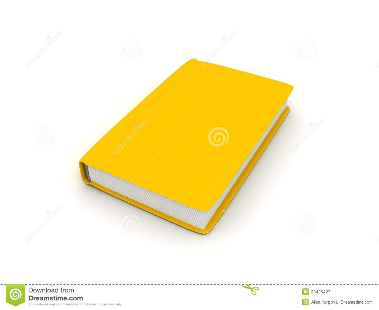 yellow book on white surface royalty free stock photography image