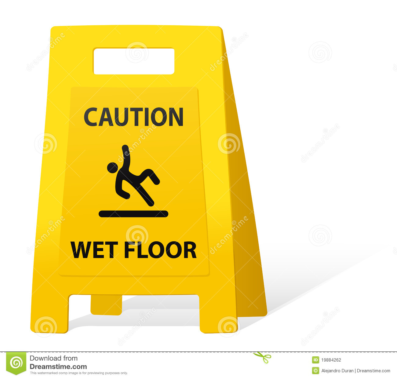 Yellow Caution Sign Stock Vector Illustration Of Front