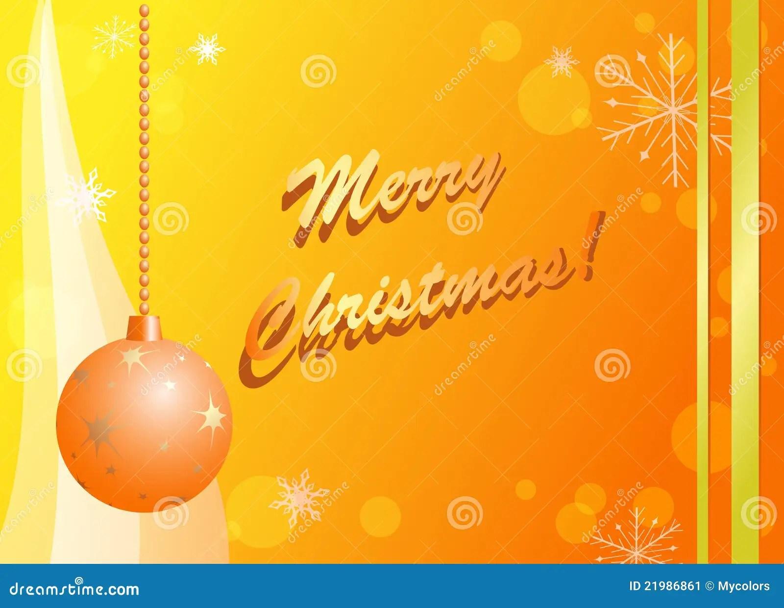 Yellow And Orange Vector Christmas Card Stock Vector