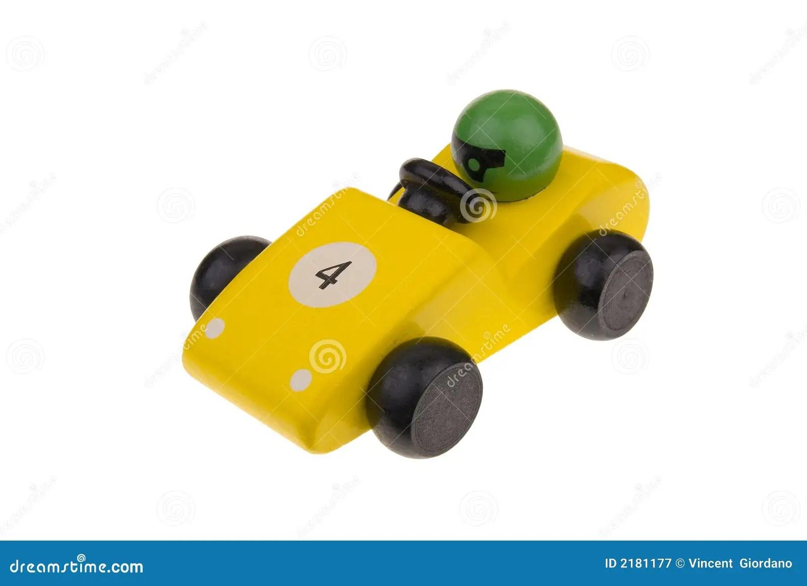 Yellow Wooden Toy Race Car Stock Image Image Of Preschool