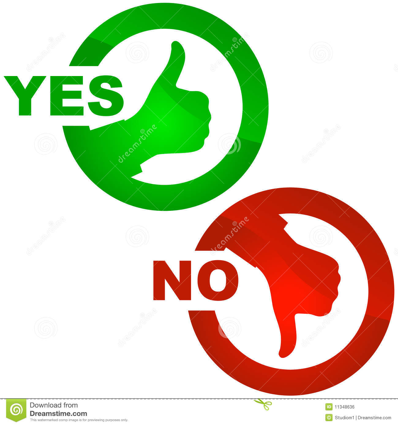 Yes And No Icon Stock Vector Illustration Of Proceed