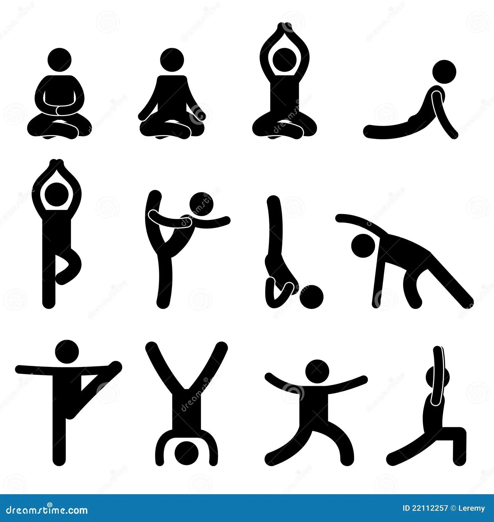 Yoga Meditation Exercise Stretching Stock Vector