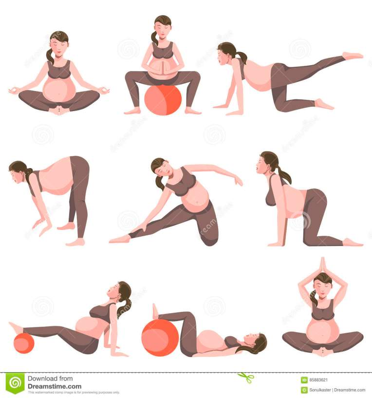 Pilates Mat Exercise Poster: You Can Do This Prenatal Pilates Workout Anywhere There's