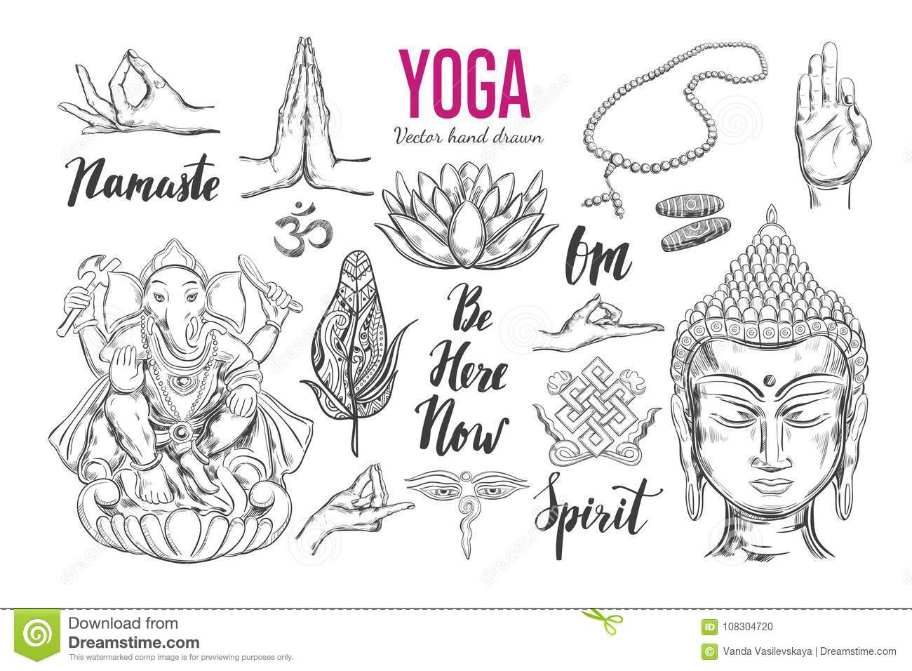 Yoga Vector Set Stock Vector Illustration Of Asia