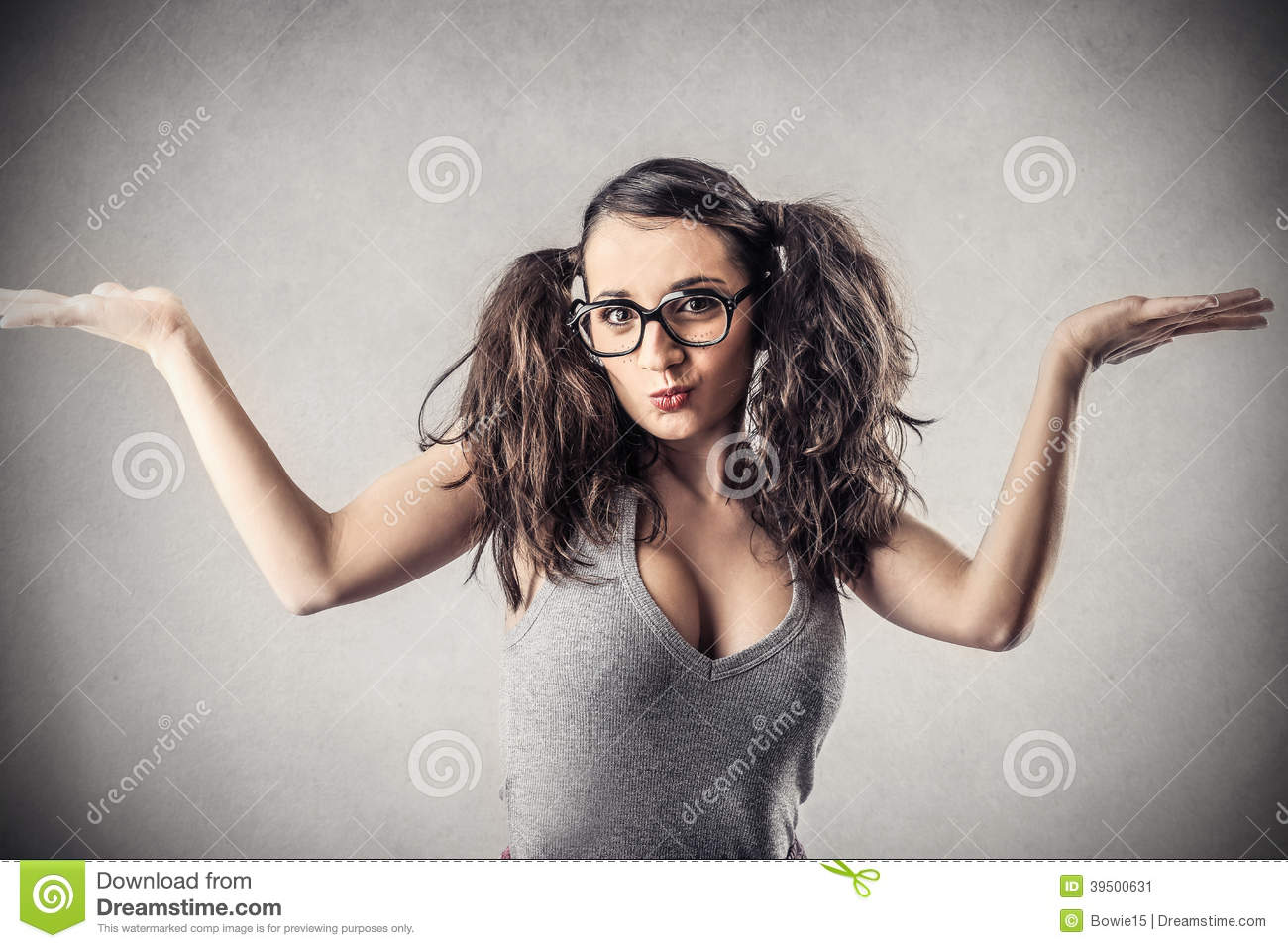 Young Cheeky Woman Stock Photo Image 39500631
