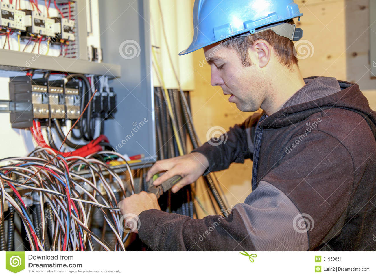 Young Electrician Stock Image Image Of Technology