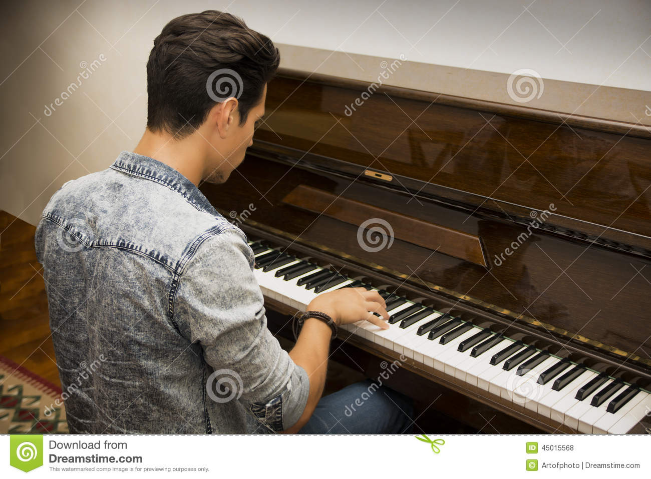 Handsome Man Playing Guitar Royalty-Free Stock Image