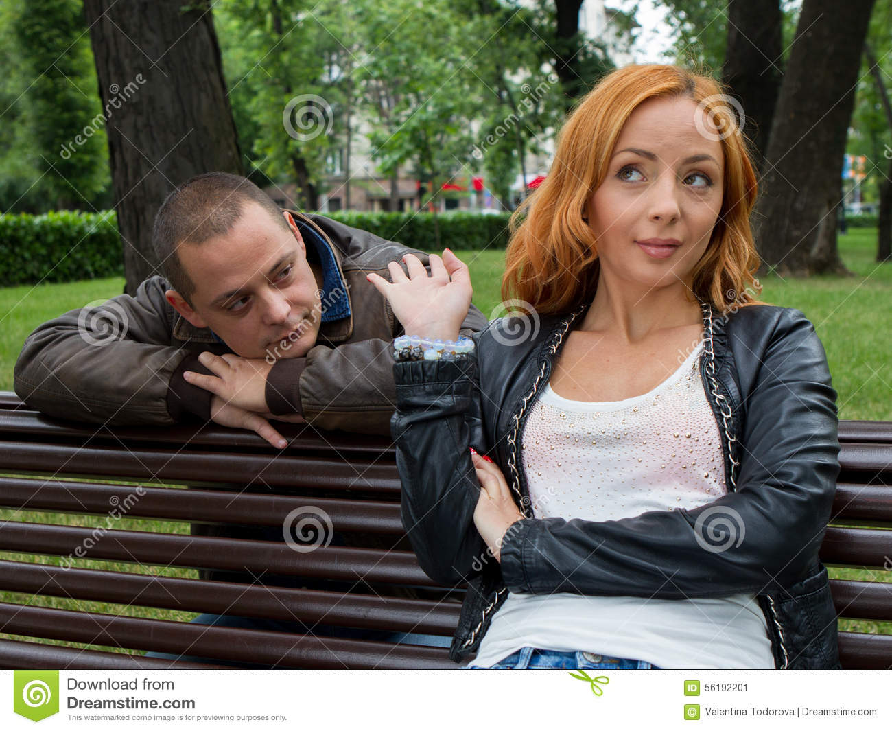 Young Man And Woman Angry And Conflicting Stock Image