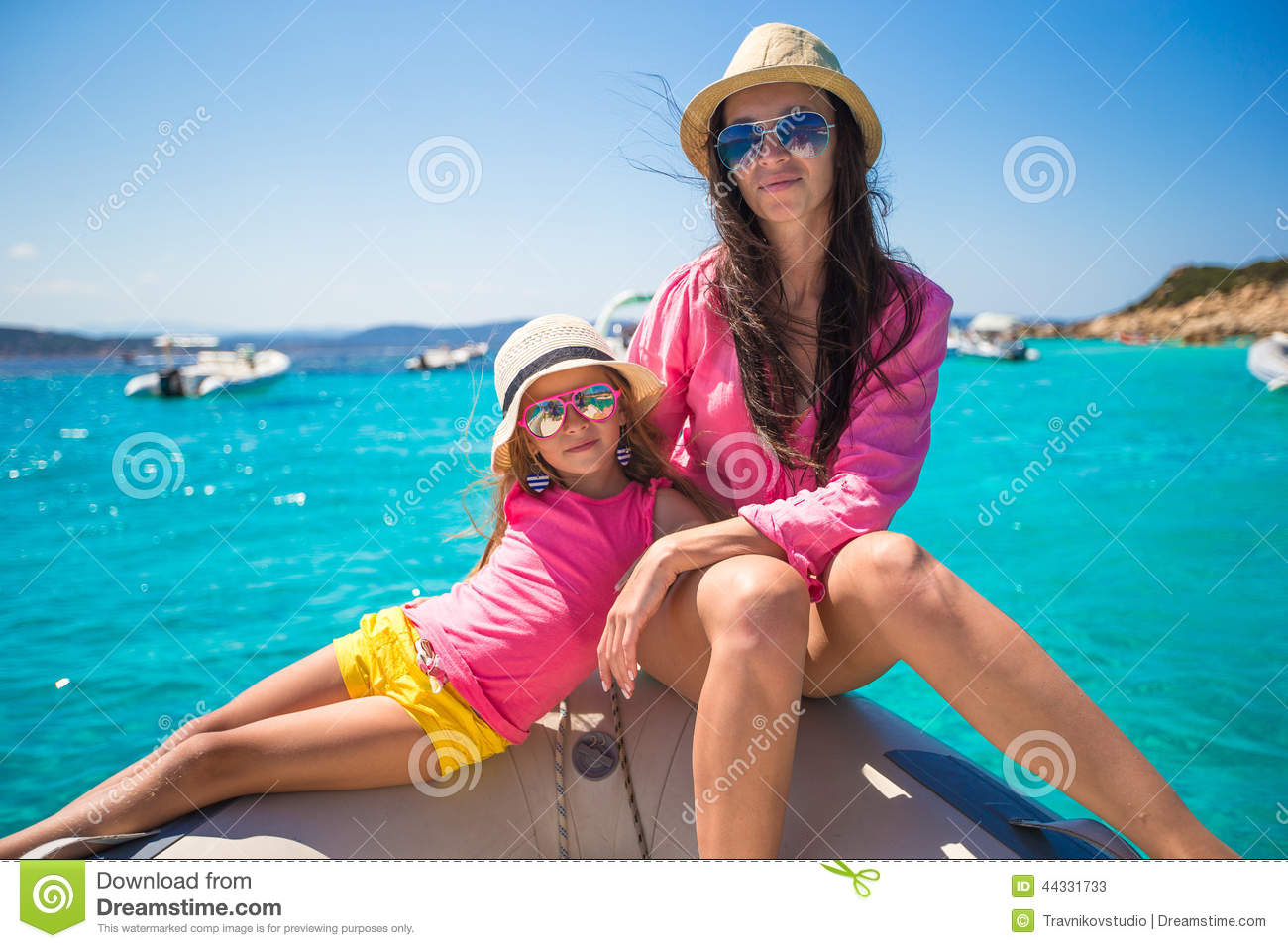 Young Mother With Her Adorable Daughter Enjoy Stock Image