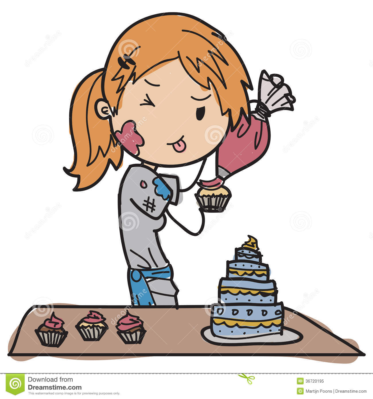 Young Pastry Chef Stock Vector Image Of Candy Kitchen