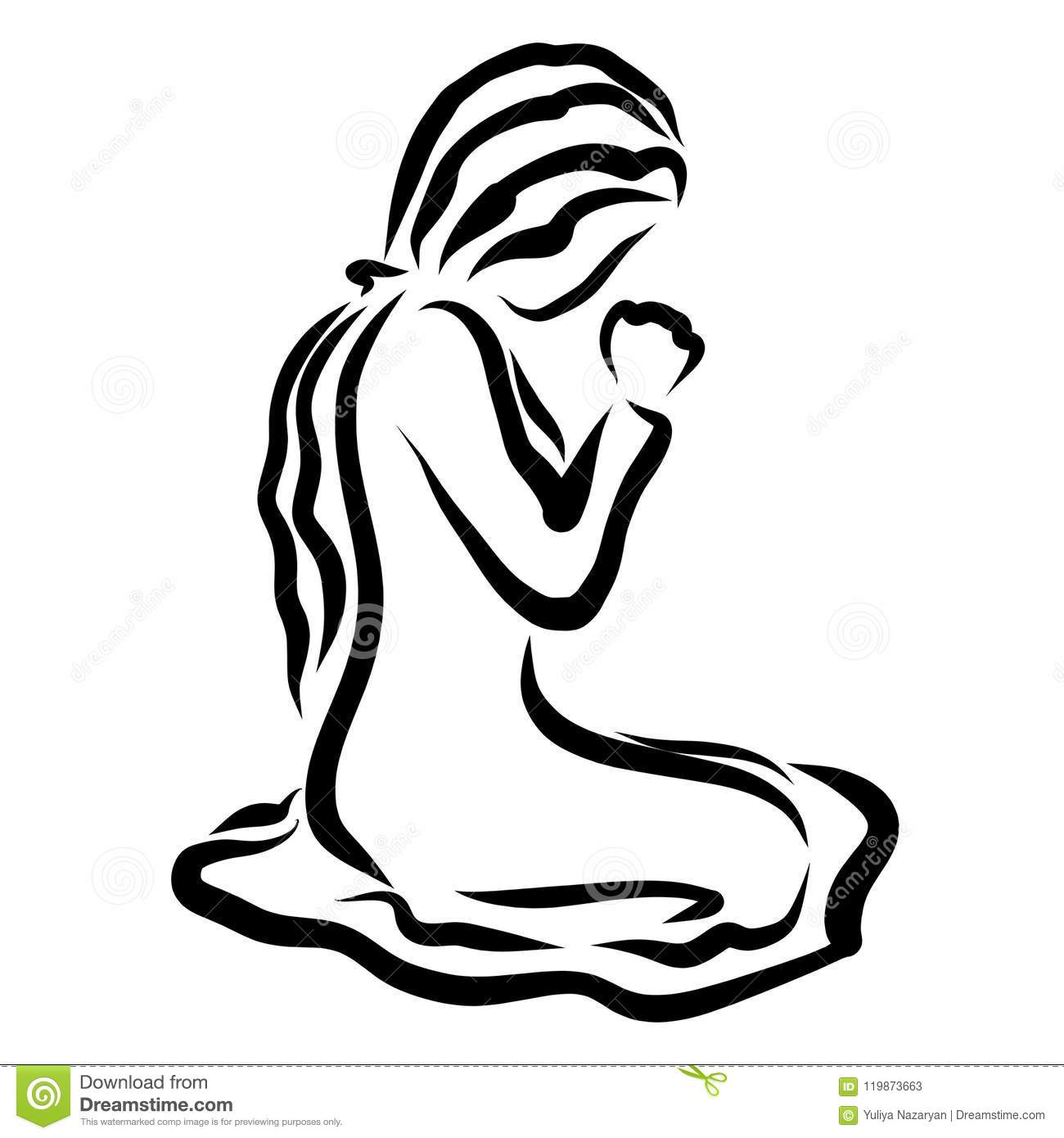 Easter Praying Hands Religious Royalty Free Illustration