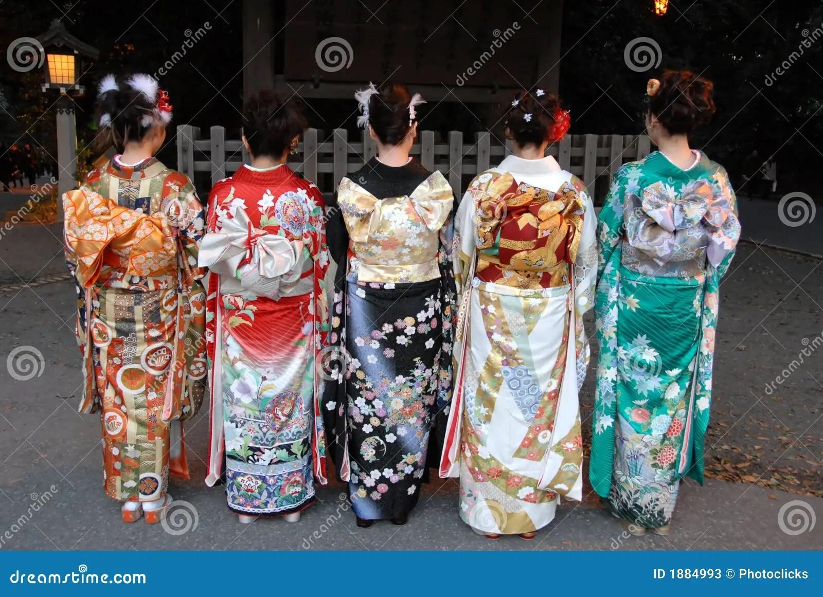 Young Women In Kimono Dress Stock Image