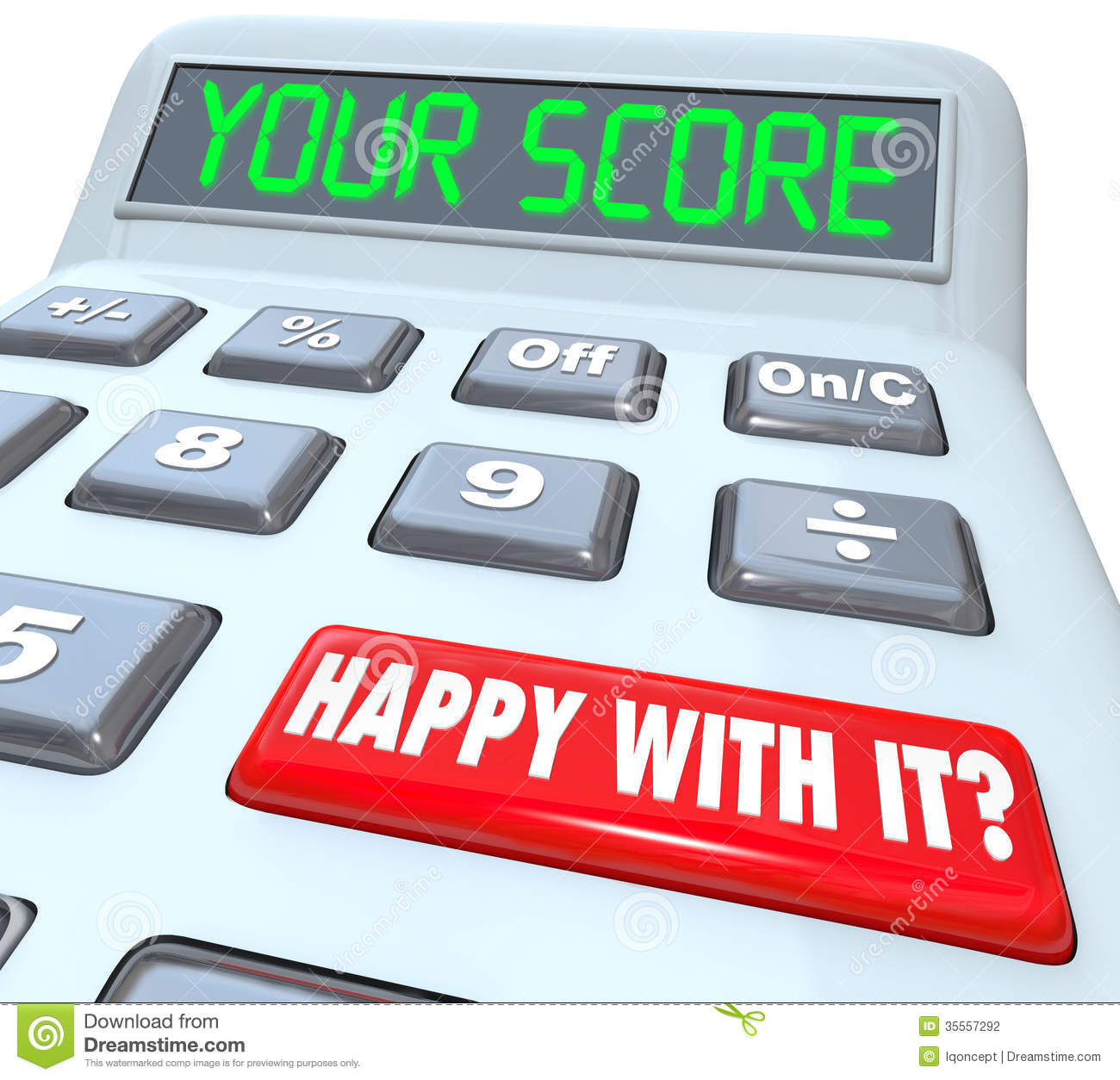 Your Score Calculator Adding Total Result Numbers Stock