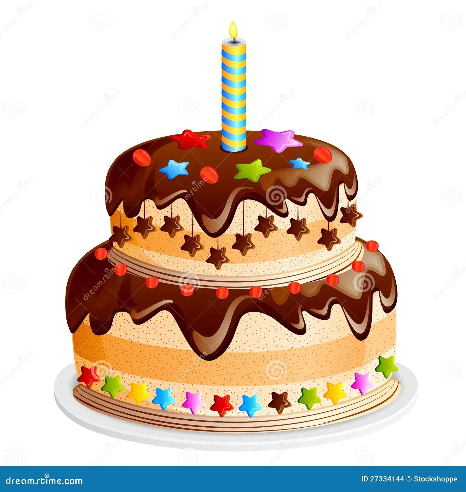 Yummy Cake Stock Vector Illustration Of Celebration
