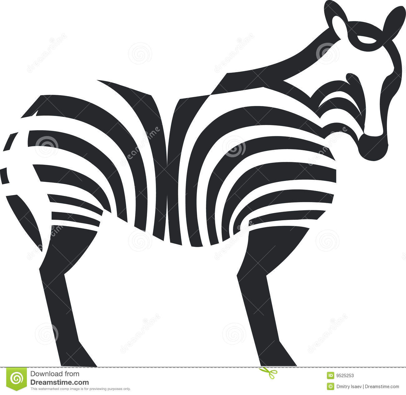 Zebra Black Silhouette Stock Photos