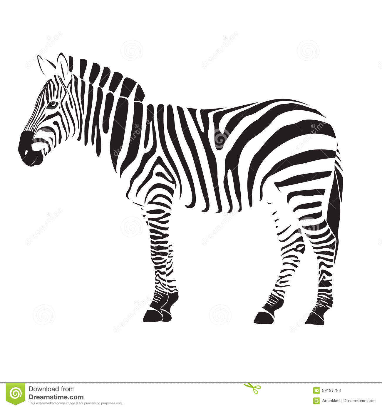 Zebra Illustration Stock Illustration