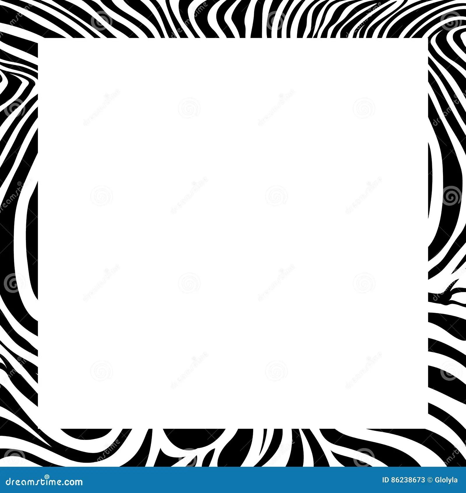 Zebra Print Border Frame Design Stock Vector