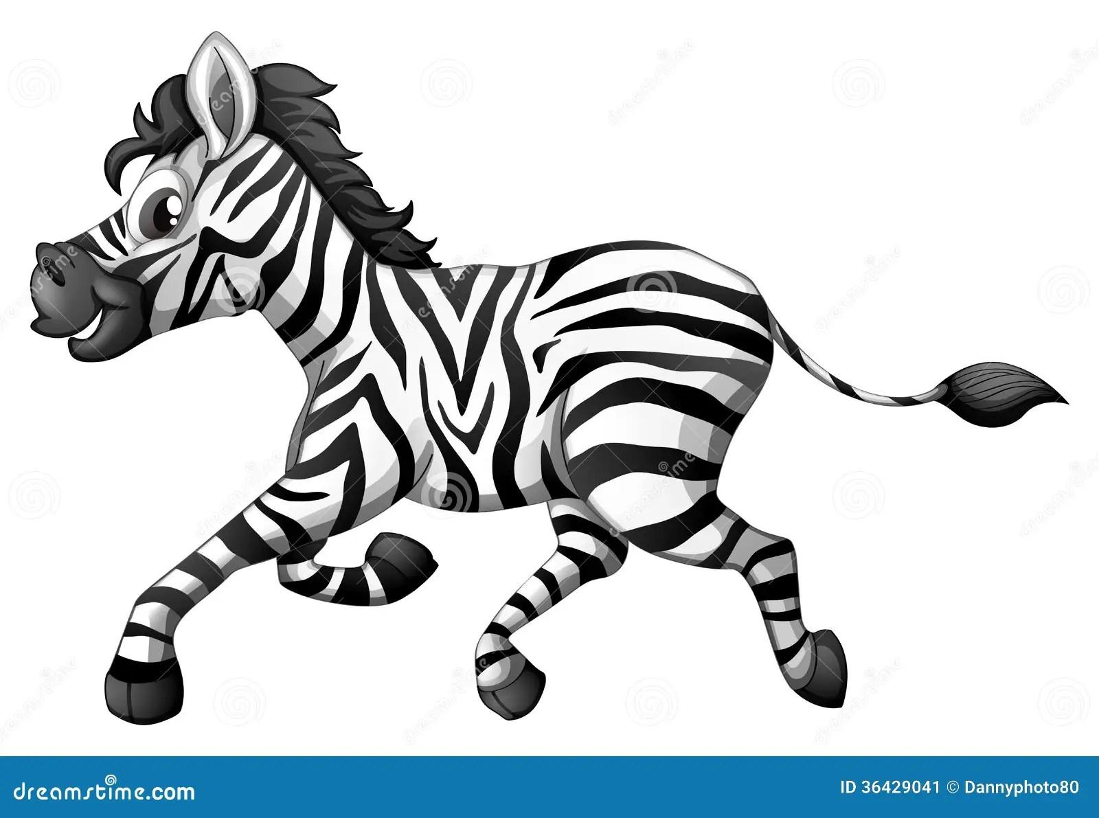 A Zebra Running Stock Illustration Illustration Of Animal