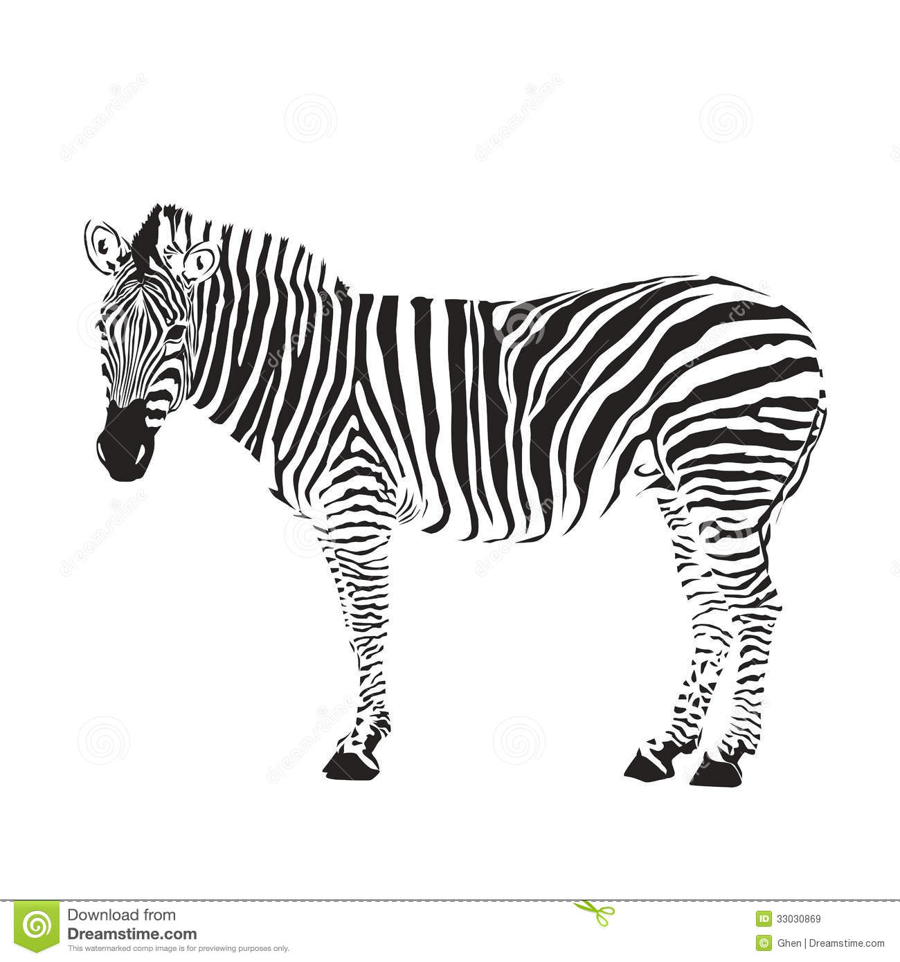 Zebra Silhouette Cartoon Vector
