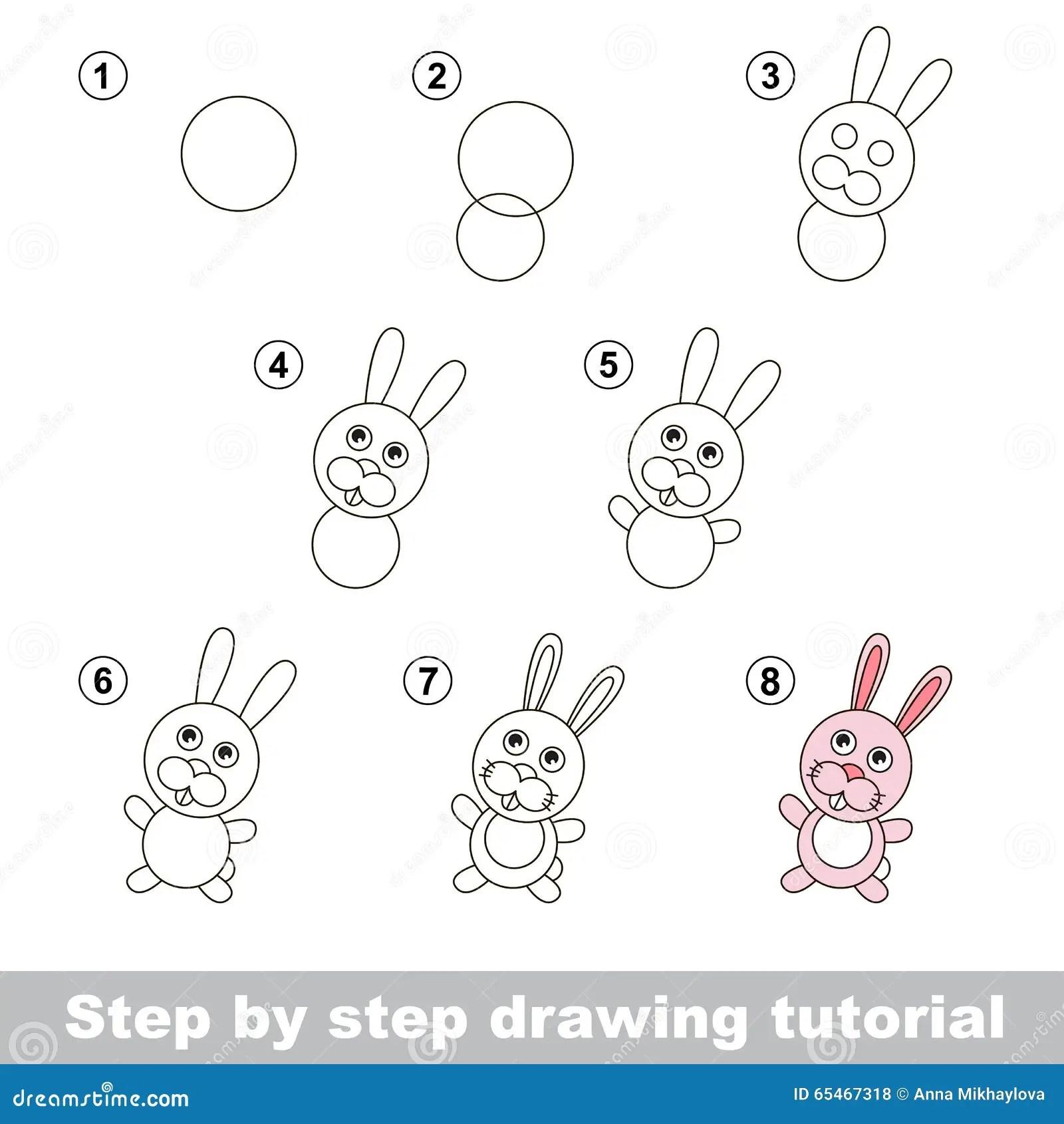 Zeichnendes Tutorium Wie Man Ein Kleines Kaninchen