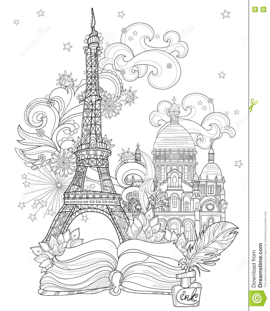 City Streets Coloring Pages Sketch Coloring Page