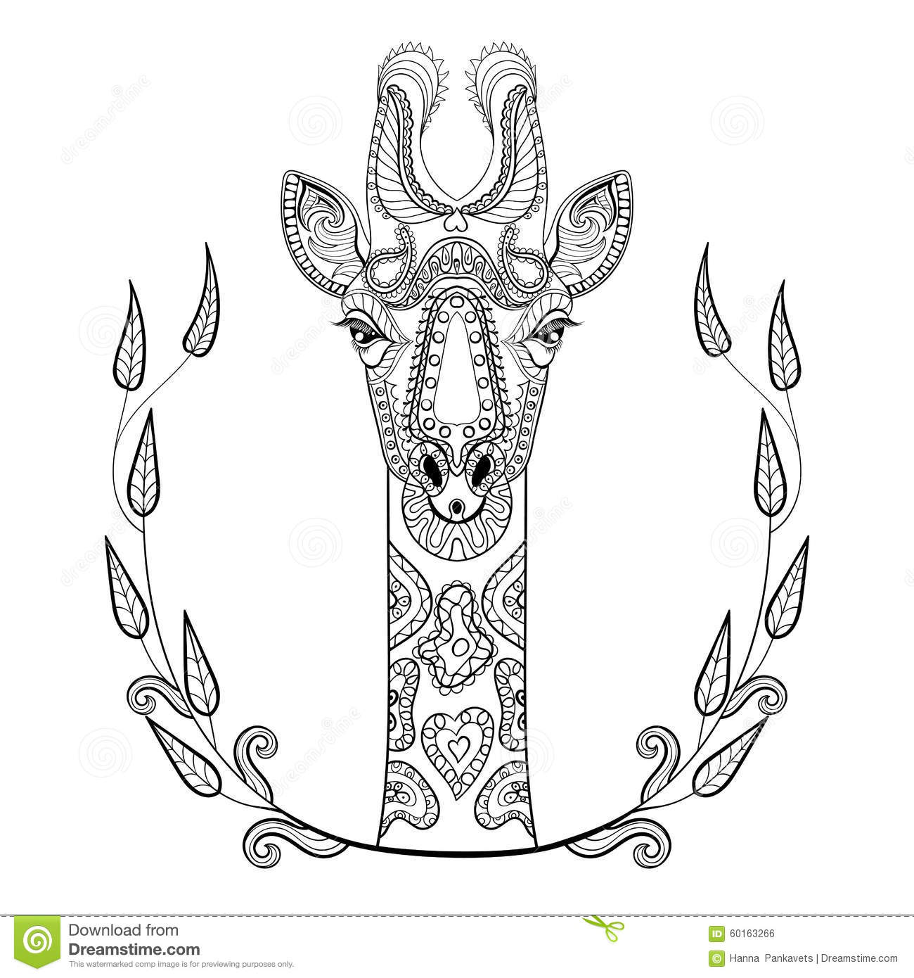 Vector Giraffe Pattern