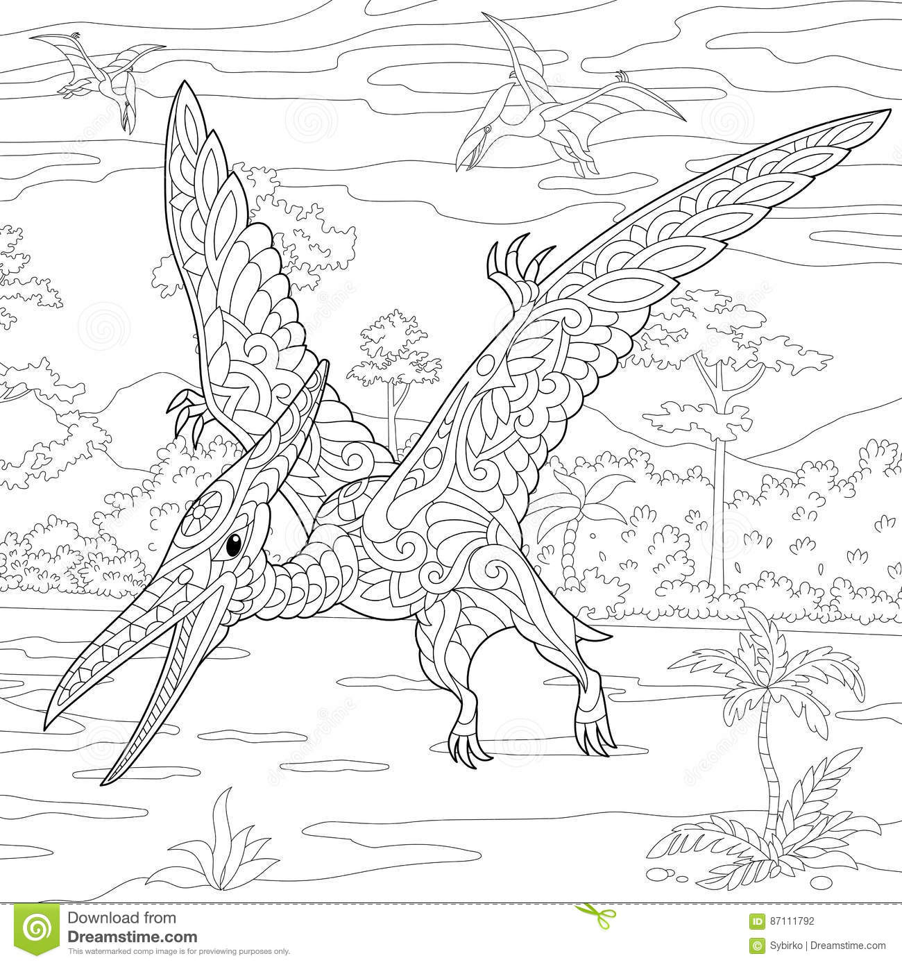 Pterodactyl Stock Illustrations 2 375 Pterodactyl Stock