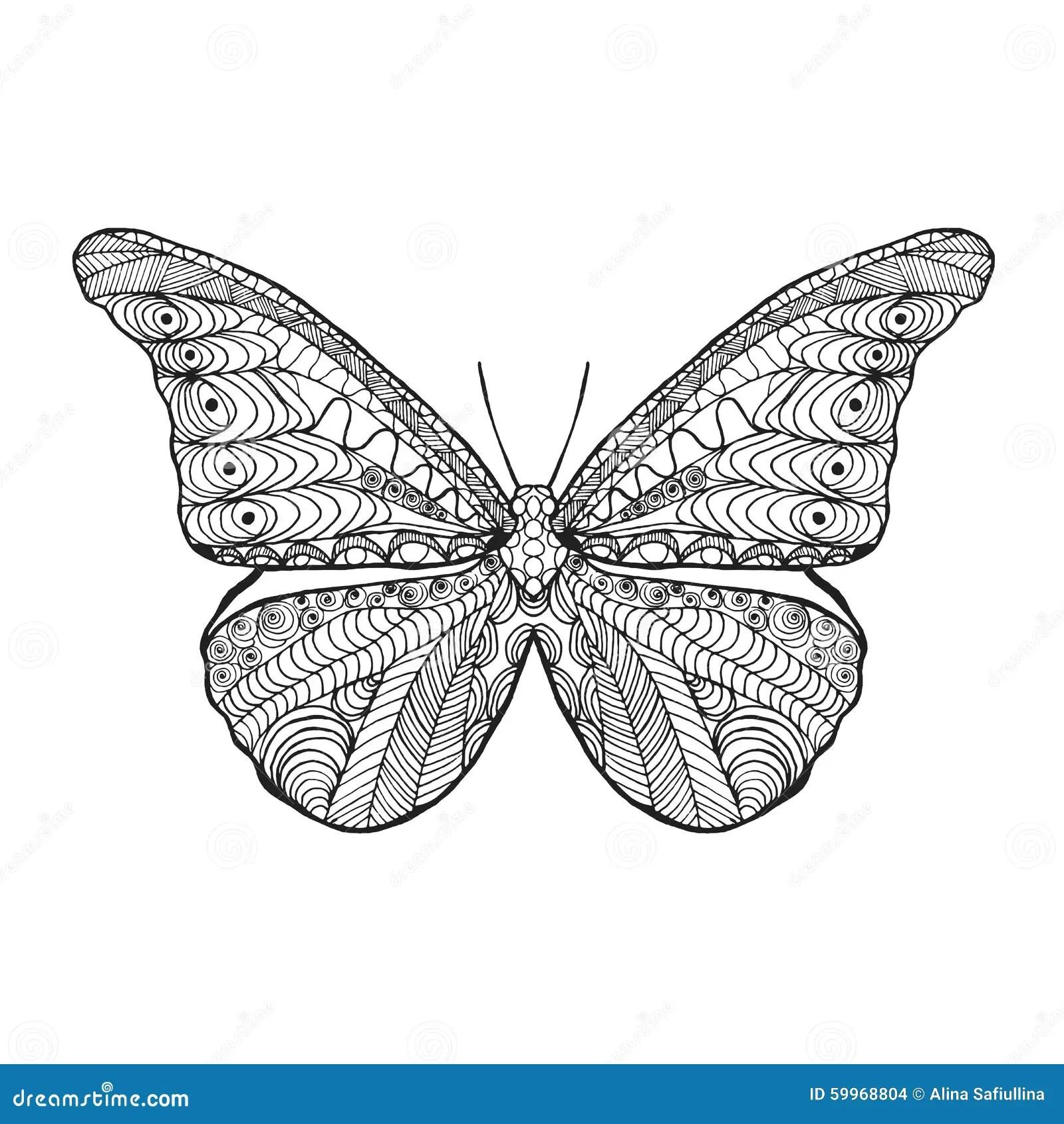 Zentangle Stylized Butterfly Stock Vector Image 59968804