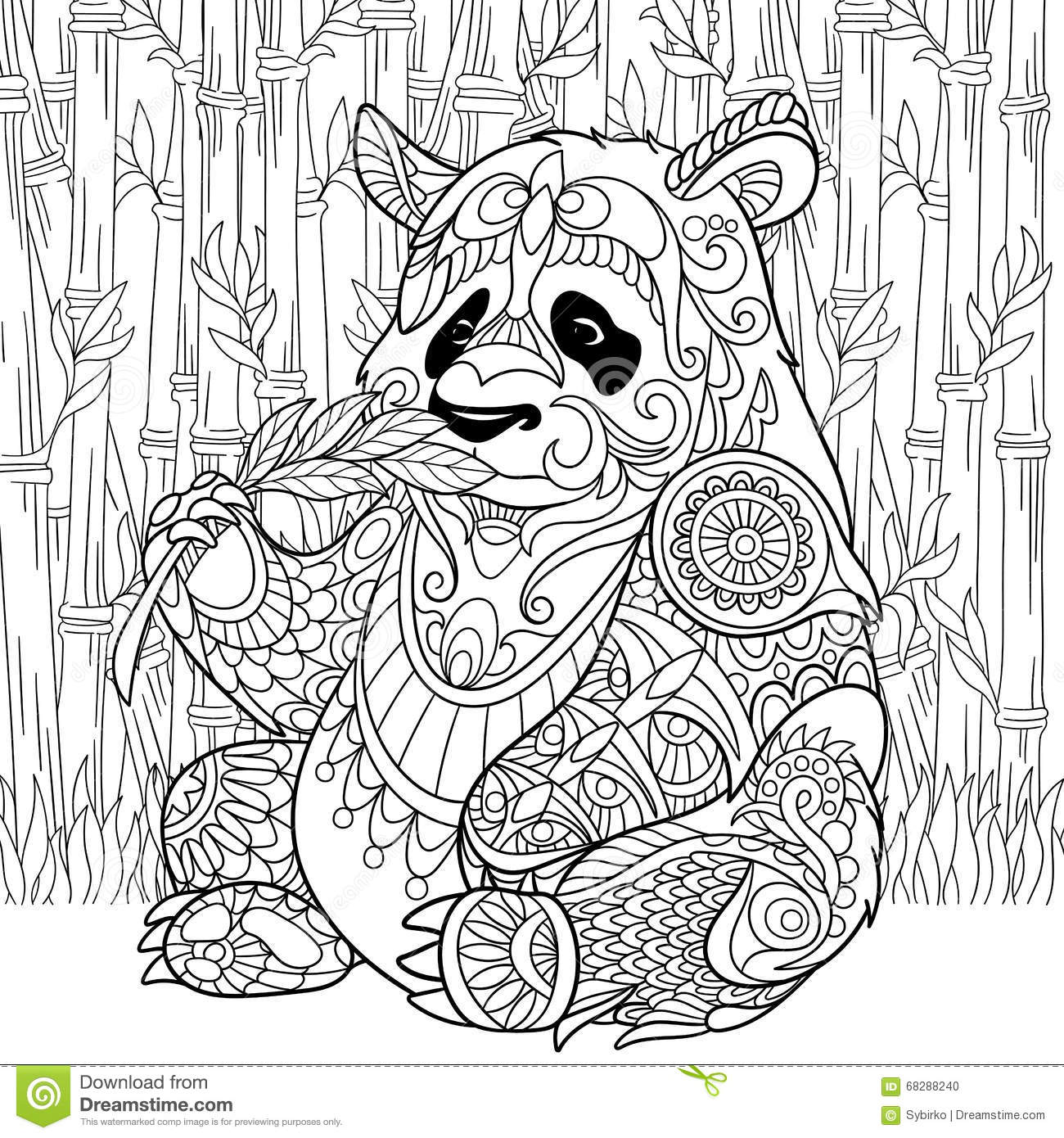 coloring page hand drawn doodle zentangle floral design elements