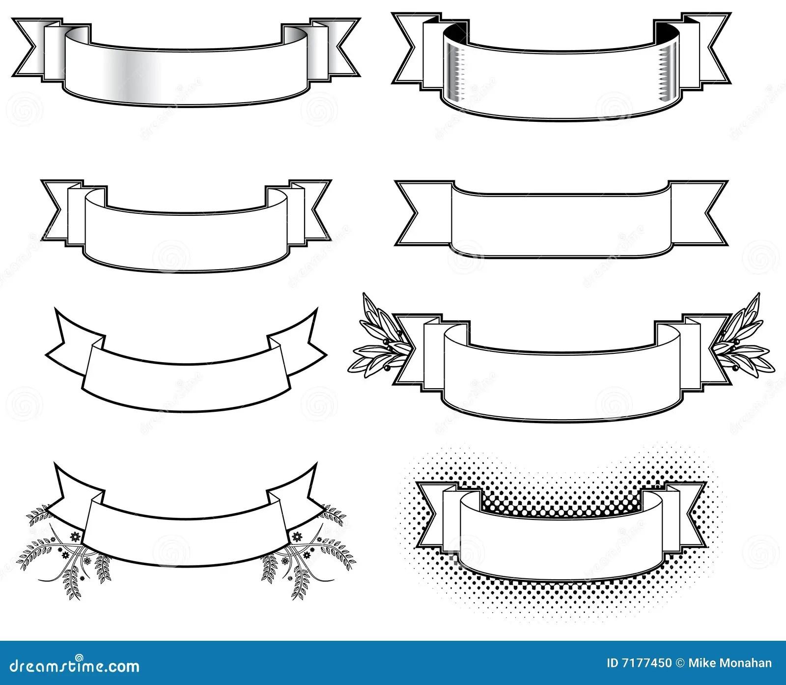 Zwarte Amp Witte Banners Vector Illustratie Illustratie