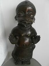 old african bronze statue Benin old french collection