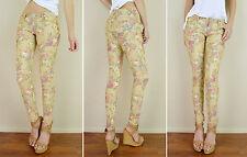 Fglory Donna Blu Denim Elasticizzato Contrasto Threading Jeans Skinny Fit.UK10-22