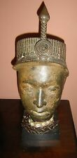 Antique African Benin Ife Bronze Head Nigeria C.1870 Large Superb Piece.