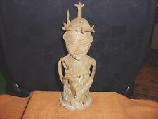 BENIN NIGERIA BRONZE CAST KINGS GUARD STATUE