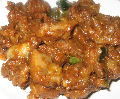 Mutton sukka fry (Meat fry) picture