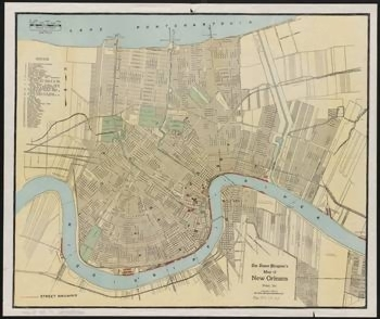 images for vintage map of new orleans
