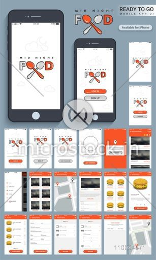 Mid Night Food Material Design Ui Ux And Gui Screens