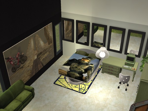 Mod The Sims Halo 3 Bedroom Set NL Required For Painting