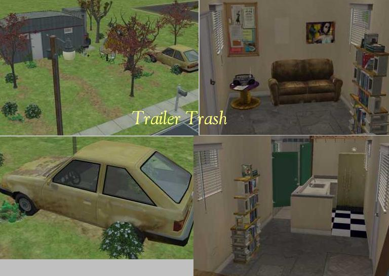 Mod The Sims Trashed Trailer Home